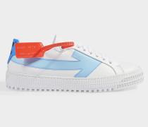 Sneaker Arrow aus weißem und blauem Leder