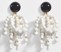 Perlen Ohrringe aus lilienweißem Harz