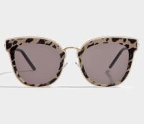 Nile Sonnenbrille aus braunem Metall