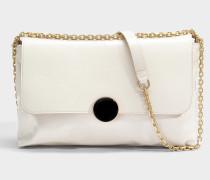 Moon Shoulder Bag aus elfenbeinfarbenem Kuhleder