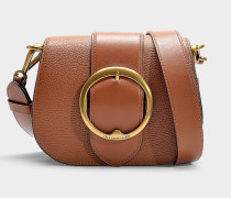 Handtasche Medium Lennox Belt aus braunem Kalbsleder