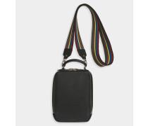 Handtasche Pavé aus schwarzem Kalbsleder