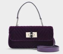 Handtasche Ringtte aus lila Baumwolle