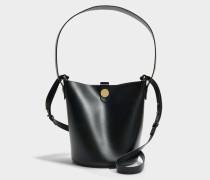 The Swing Tasche aus schwarzem Kuhleder