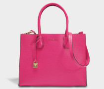 Mercer Large Convertible Tote Bag aus Ultra rosanem Pebbled Leder