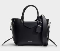 Tasche Messenger Blakely Medium aus schwarzem Kalbsleder