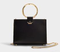 Mini Handtasche Sam White Rock Road aus schwarzem Lammleder