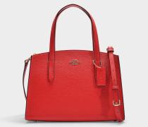 Shopper Charlie 28 Carryall aus rotem Kalbsleder
