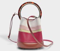 Pannier Classic Intarsia Tasche aus Glas und zitronengelbemade Kalbsleder