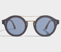 Montie Sonnenbrille aus blauem Acetat