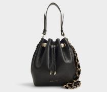 Bucket Bag Bernie aus schwarzem Kalbsleder