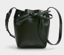 Bucket Bag Mini Mini Bucket aus grünem Kalbsleder