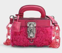 Handtasche Makeup Box aus pinker Wolle