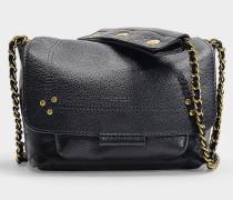 Schultertasche Lulu S aus schwarzem Leder
