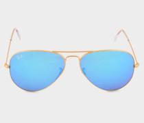 Aviator 3025 Sonnenbrille aus blauem Metall