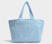 Tribute Medusa Towel Tasche aus blauem Frottee