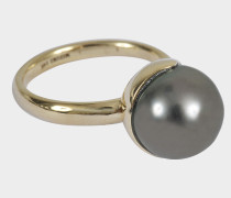 Ring Fluide aus Gold und Tahiti Perle
