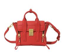 Pashli Mini Satchel Tasche aus rotem geprägtem Kuhleder