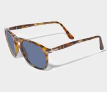 0PO9714S Sonnenbrille aus blauem Acetat