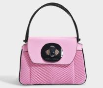 Musa Tasche aus rosanem gefaltenem Nappa Leder