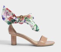 Tursi Patent Sandalen aus rosanem Lackleder