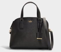 Handtasche Lottie Cameron Street aus schwarzem Kalbsleder