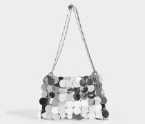 Sparkle 1969 Iconic Oversize Pailletten-Tasche aus silberfarbenen Messing