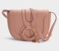 See by Chloé Mini Tasche Hana Crossbody aus aus puderrosa, genarbtem Ziegenleder