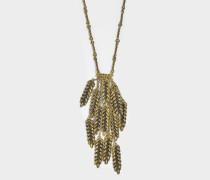 Wheat 13 Cobs Long Halskette aus 18K vergoldetem Messing