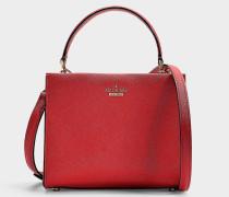 Kleine Handtasche Sara Cameron Street aus Kalbsleder Saffiano Orange