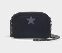 Mini Schultertasche Stella Star aus schwarzer Baumwolle