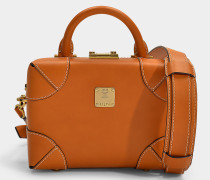 Kleine Handtasche Soft Berlin Vachetta aus cognacfarbenem Kalbsleder