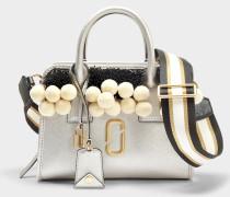 Perlen und Poms Little Big Shot Tasche aus Platinum Multi Split Kuhleder