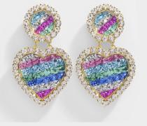 Ohrringe Mini Marilyn Rainbow aus vergoldetem Messing in Bunt