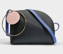 Eartha small Tasche aus Lapis blauem und schwarzem Kalbsleder