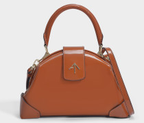 Handtasche Demi aus Camel Kalbslackleder