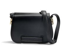 Crossbody Tasche aus schwarzem Kalbsleder