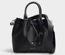 Bucket Bag Blakely Medium aus schwarzem Kalbsleder