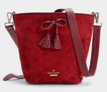 Handtasche Vanessa Hayes Street aus rotem Kalbsleder