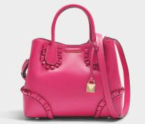 Mercer Gallery small Center Zip Satchel Tasche aus Ultra rosanem Polisher Leder