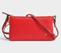 Fleming Chain Crossbody Tasche aus Exotik rotem Lammleder