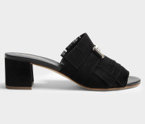 Double T micro fringe Mules