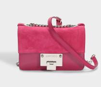 Rebel Soft Mini Tasche aus Cerise Wildleder und Lackleder