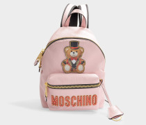 Mini Rucksack Teddy Circus aus rosa Kalbsleder