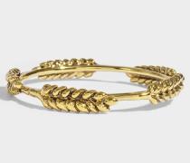 5 Wheat Cobs Bracelet aus 18K vergoldetem Messing