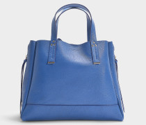 Shopper Georges Medium aus Ziegenleder Azurblau