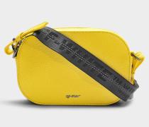 Camera Bag aus gelbem Kalbsleder