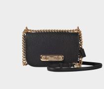 Handtasche  Swagger 20 aus schwarzem Kalbsleder
