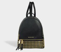 Rhea Zip Medium Pyra Studded Backpack aus schwarzem Soft Venus