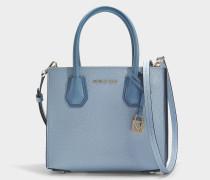 Handtasche Mercer Medium aus blassblauem Kalbsleder